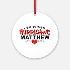 Hurricane Matthew Survivor October 2016 Round Orna