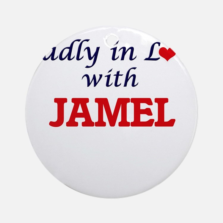 Madly in love with Jamel Round Ornament