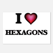 I love Hexagons Postcards (Package of 8)