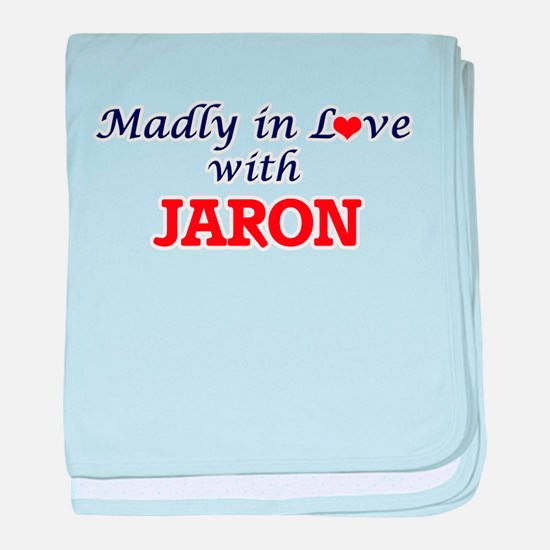 Madly in love with Jaron baby blanket