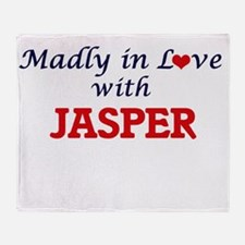 Madly in love with Jasper Throw Blanket