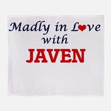 Madly in love with Javen Throw Blanket