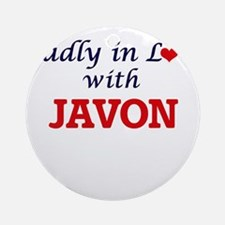 Madly in love with Javon Round Ornament