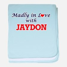 Madly in love with Jaydon baby blanket