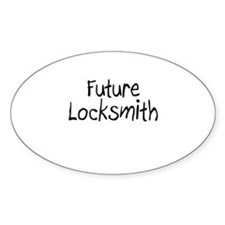 Future Locksmith Oval Decal