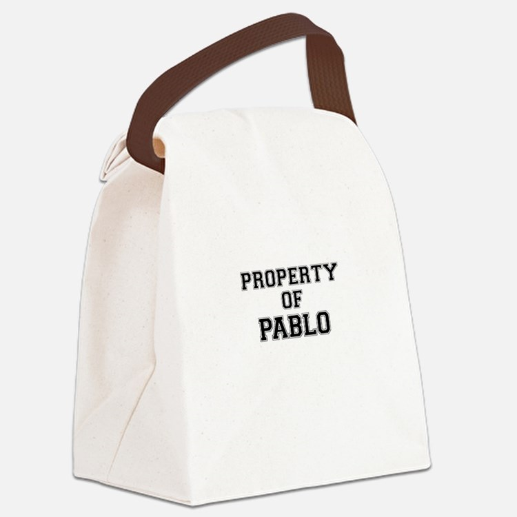 Property of PABLO Canvas Lunch Bag