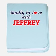 Madly in love with Jeffrey baby blanket