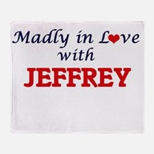 Madly in love with Jeffrey Throw Blanket