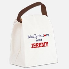 Madly in love with Jeremy Canvas Lunch Bag