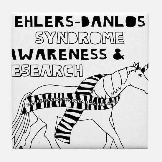 Unicorns Support Ehlers-Danlos Syndro Tile Coaster