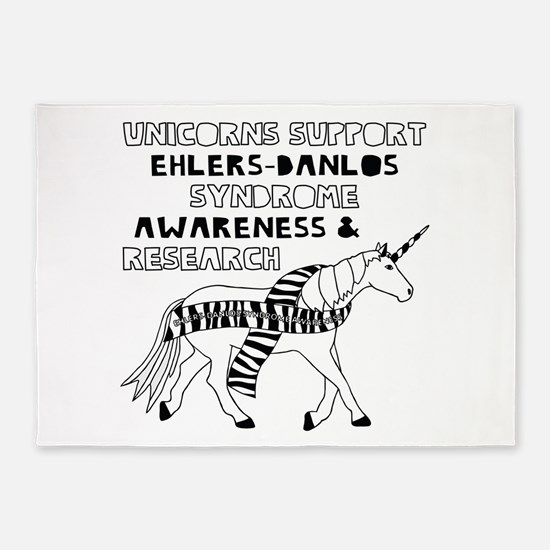 Unicorns Support Ehlers-Danlos Synd 5'x7'Area Rug