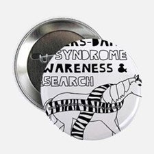 """Unicorns Support Ehlers-Danlos Syndro 2.25"""" Button"""