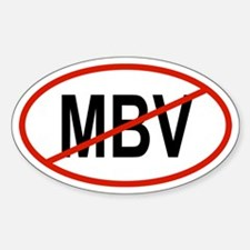 MBV Oval Decal