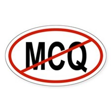 MCQ Oval Decal
