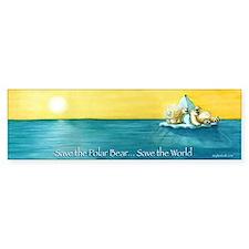Save the Polar Bear Bumper Bumper Sticker