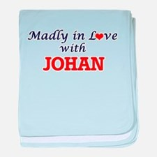 Madly in love with Johan baby blanket