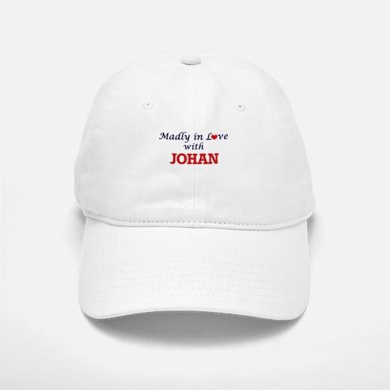 Madly in love with Johan Baseball Baseball Cap