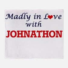 Madly in love with Johnathon Throw Blanket