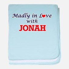 Madly in love with Jonah baby blanket
