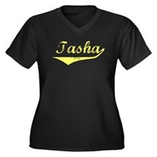Tasha Vintage (Gold) Women's Plus Size V-Neck Dark