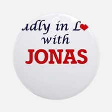 Madly in love with Jonas Round Ornament