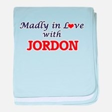Madly in love with Jordon baby blanket