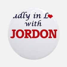Madly in love with Jordon Round Ornament