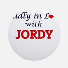 Madly in love with Jordy Round Ornament