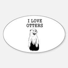 I Love Otters Decal