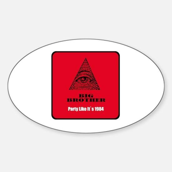 Funny Surveillance Sticker (Oval)