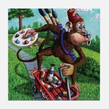 Art Monkey Junkie Coaster