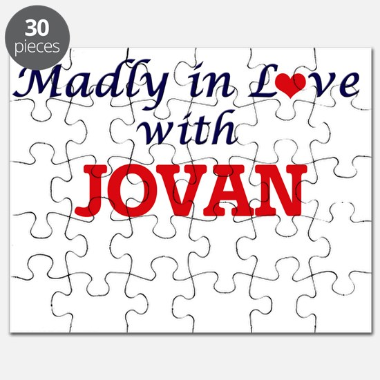 Madly in love with Jovan Puzzle