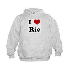 I Love Ric Kids Hoodie