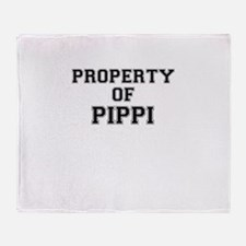 Property of PIPPI Throw Blanket