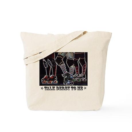 Talk Derby Neon Tote Bag