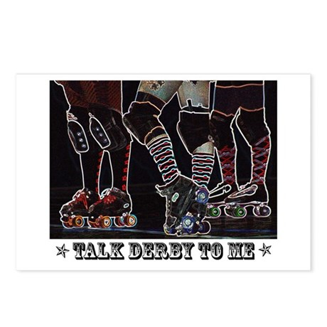 Talk Derby Neon Postcards (Package of 8)