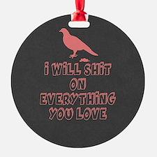 Funny Bird Poop Ornament