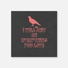 Funny Bird Poop Sticker