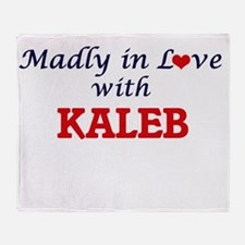 Madly in love with Kaleb Throw Blanket