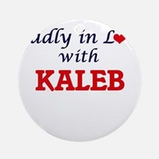 Madly in love with Kaleb Round Ornament