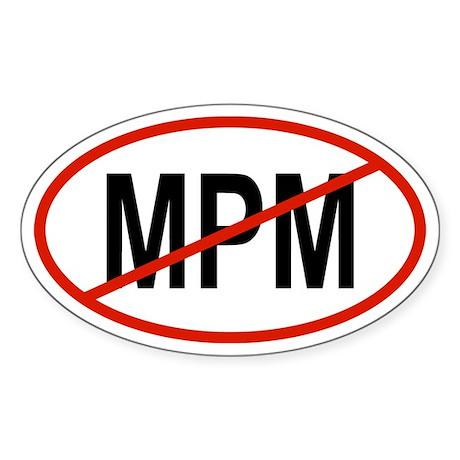 MPM Oval Sticker