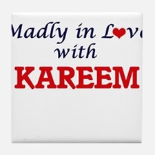 Madly in love with Kareem Tile Coaster