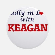 Madly in love with Keagan Round Ornament