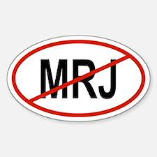 MRJ Oval Decal