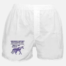 Unicorns Support Hidradenitis Suppura Boxer Shorts