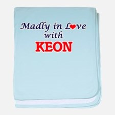 Madly in love with Keon baby blanket