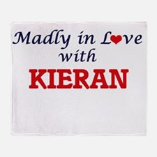 Madly in love with Kieran Throw Blanket