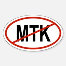 MTK Oval Decal