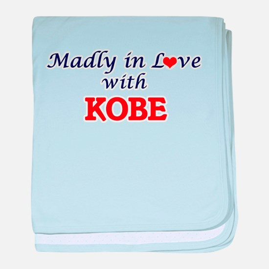 Madly in love with Kobe baby blanket