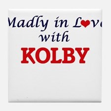 Madly in love with Kolby Tile Coaster